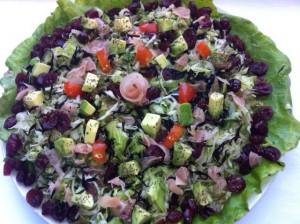 uma salada especial para o natal